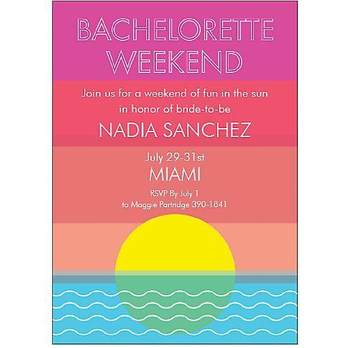 beach bachelorette invitation : perfect invite for miami beach bachelorette, palm beach bachelorette, bahamas bachelorette, key west bachelorette