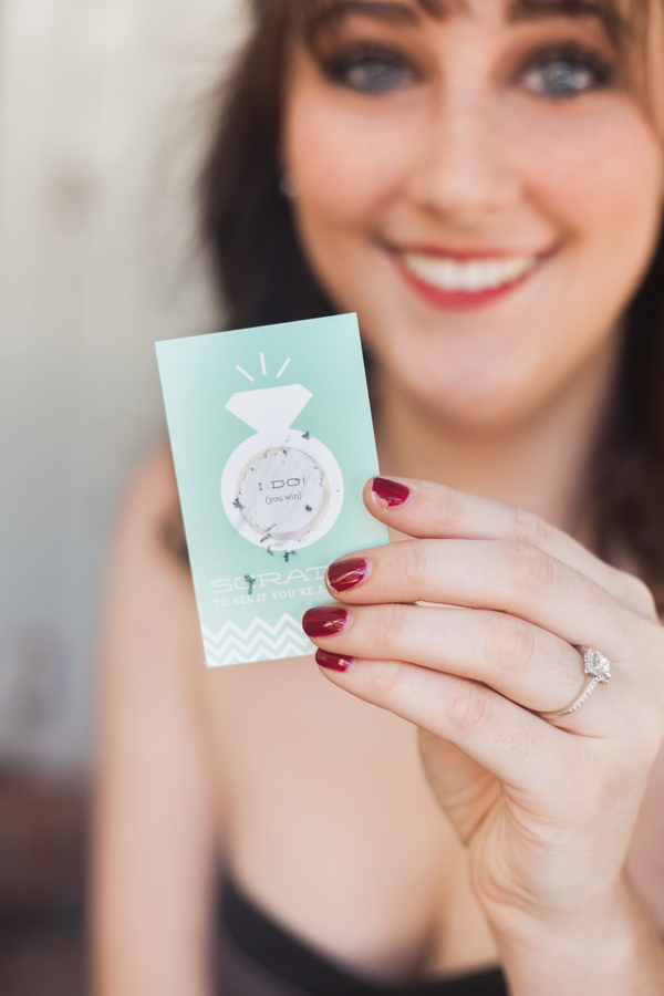 The Ultimate Simple, No-Fuss Bridal Shower Game: Scratch-Off Cards! from Beau-Coup