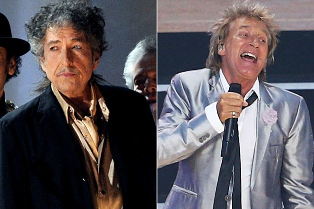 Bob Dylan and Rod Stewart