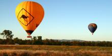 オーストラリアの熱気球
