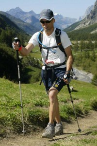 Andy on his way to a sub-30hr  UTMB