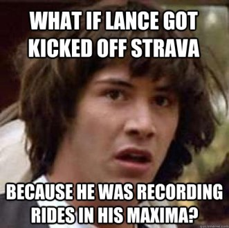 Strava has cottoned onto Lance as well...