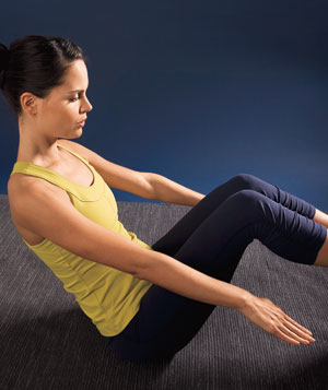Running is generally a standing up exercise... so why sit down to strengthen the core?