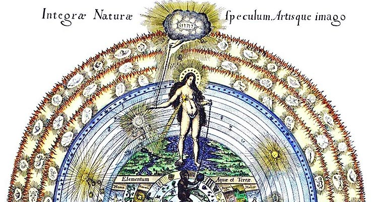Alchemical Mandala Integrae Naturae Fludd
