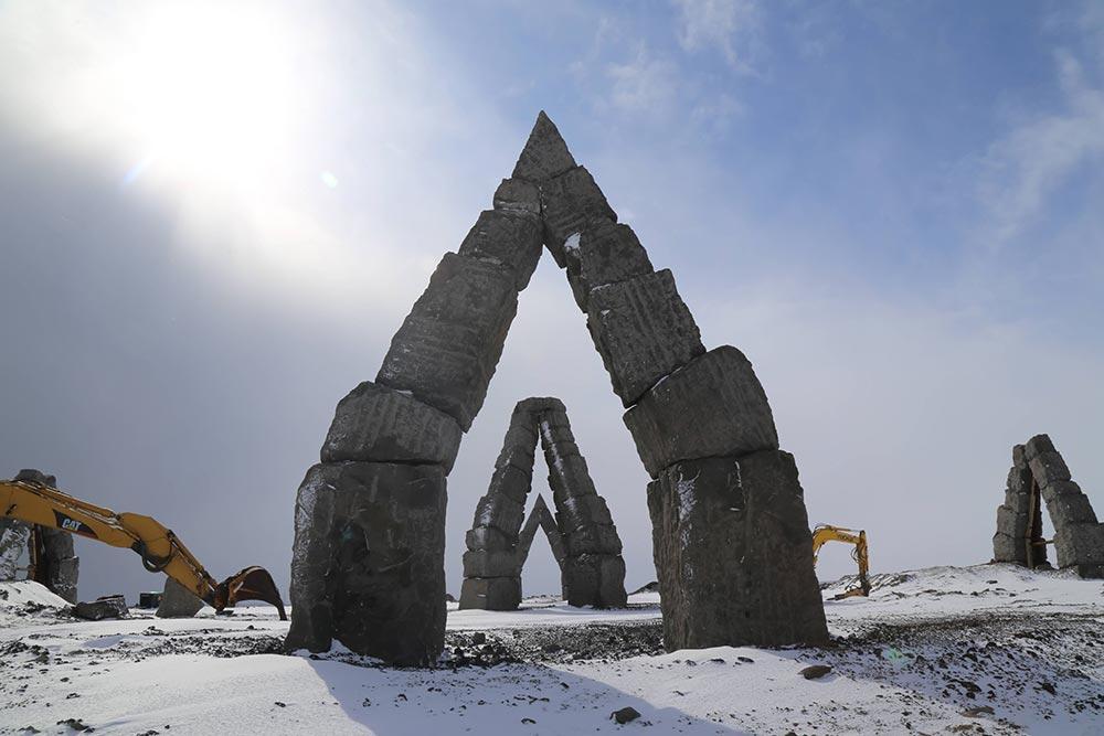 Megaliths Arctic Henge, Raufarhofn, Iceland
