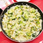 Risotto z zielonym groszkiem i brokułami