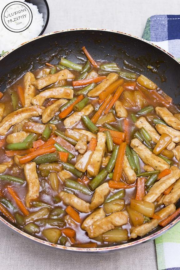 Wieprzowina z fasolką szparagową