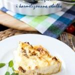 Tarta z kalafiorem pieczonym, karmelizowaną cebulą i mascarpone