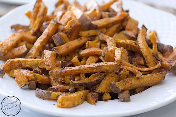 Frytki ze słodkich ziemniaków