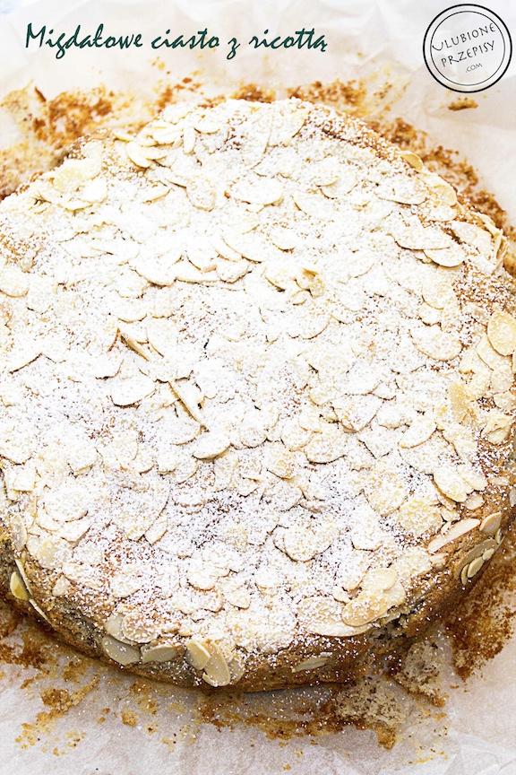Migdałowe ciasto z ricottą
