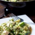 Potrawka z kurczaka z brokułami i cukinią