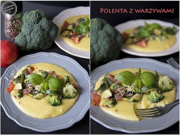 Polenta z warzywami