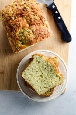 Small Of Zucchini Cheesy Bread