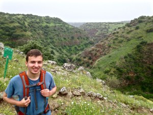 Cassidy Laidlaw hiking in the Golan Heights during his study abroad semester. Photo courtesy of Cassidy Laidlaw