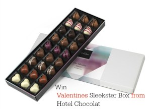 Valentine's Chocolate Gifts Giveaway – Win a Hotel Chocolat Sleekster box