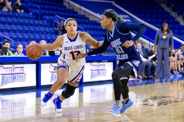 Women's basketball falls to URI 64-57 in back-and-forth game