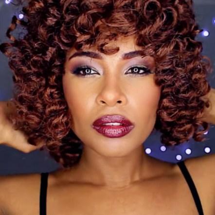Curly Crochet Braids w/ Light Brown Kanekalon Hair