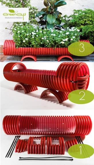 Una docena de maneras de utilizar materiales reciclados - Canalones de plastico ...