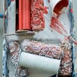Rodillos de estampación para paredes y telas