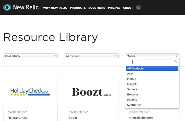 New Relic case study library