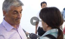 Helen Steel confronts John Dines in .au