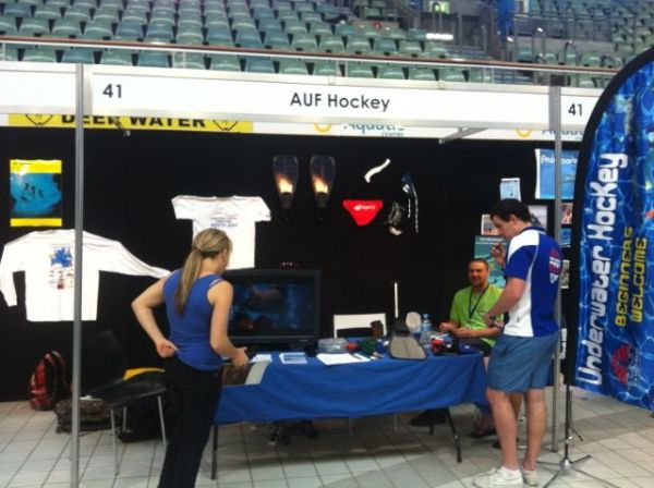 The Underwater Hockey stall at ODEX 2012