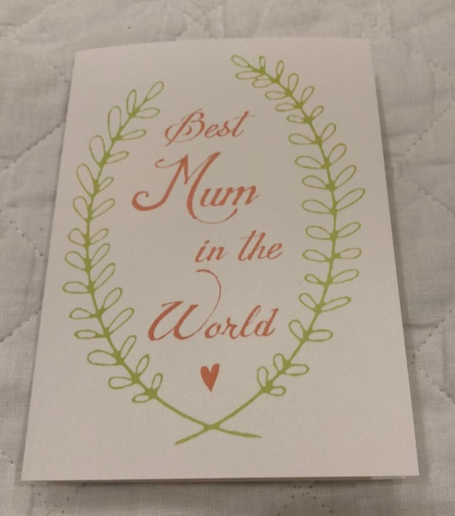 Mum's Day card Eve