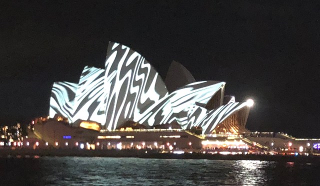 vivid opera house black and white