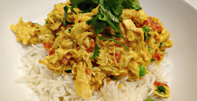 Easy Creamy Chicken Curry Rice Bowl