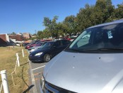 """""""Parking at UNG is a real issue that needs to be addressed."""" (Photo by Skylar Cleland)"""