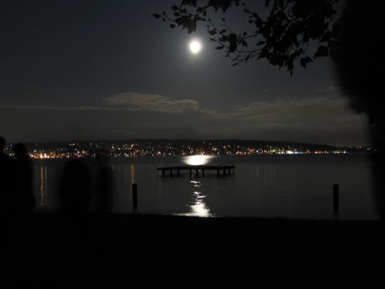 Moon over Magnuson Park