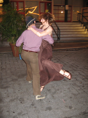 Kristen dancing with Darrin