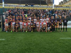 The two finalist teams played on the Rec during Bath Rugby halftime