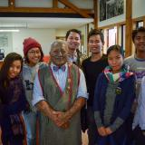 Wut Hmone, Htet Htet, Zarchi, Thura, Aung Myin, Zin Mar Lar Htay, Arkhar and Nyi Nyi with Tame Iti and Taneatu.