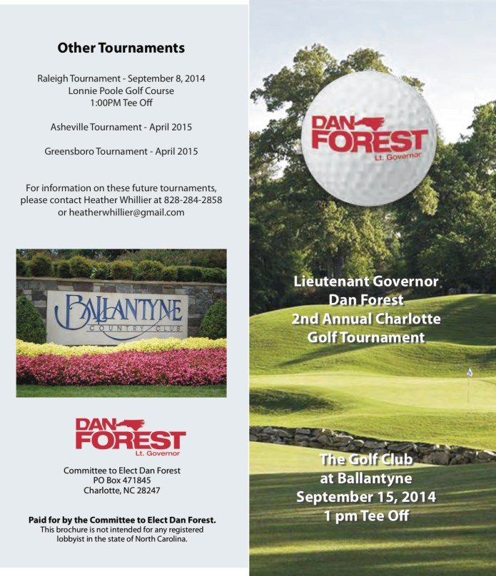 Dan Forest 2014 Charlotte Golf Tournament