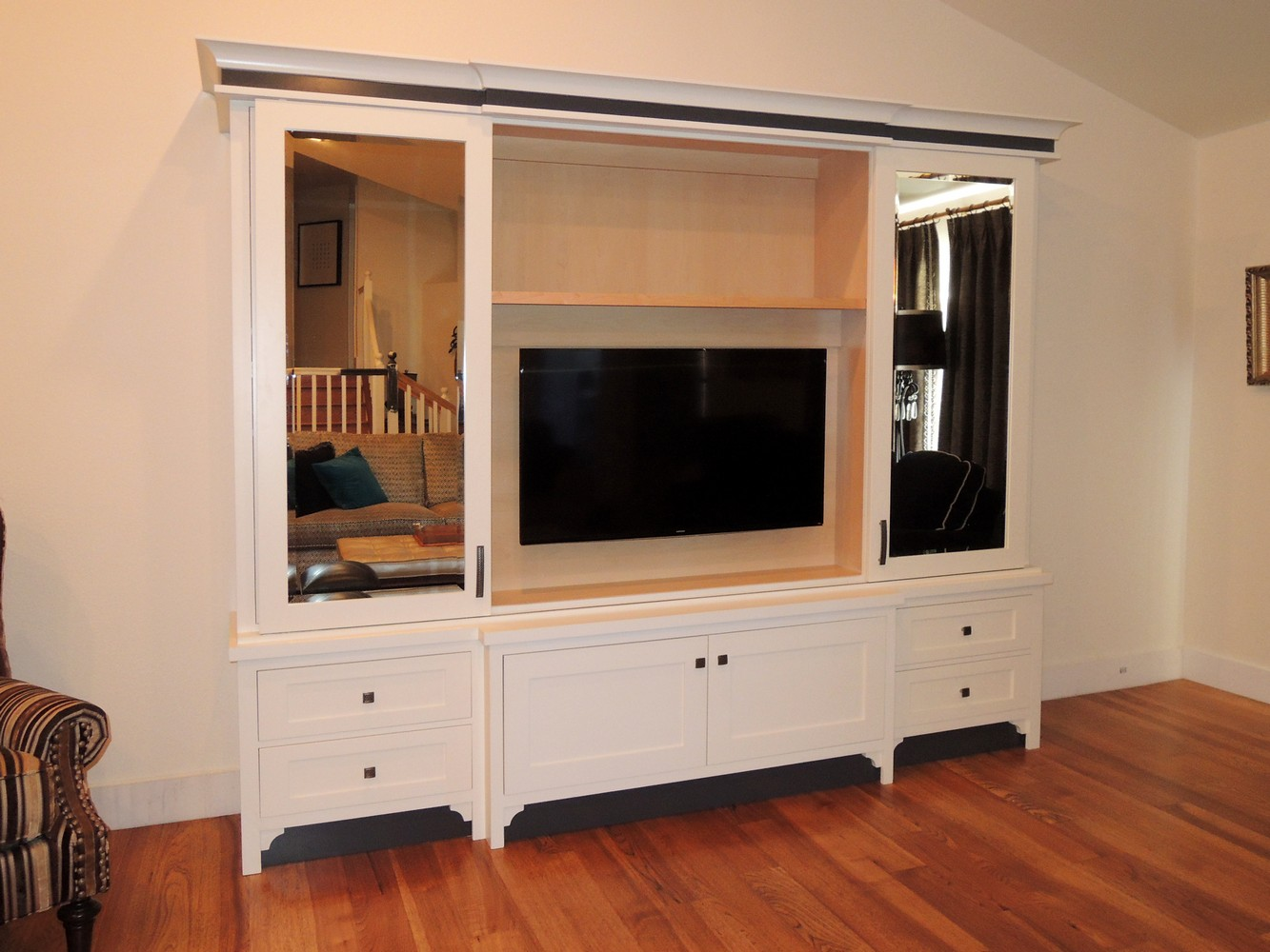 tv media cabinetry unique design cabinet co. Black Bedroom Furniture Sets. Home Design Ideas