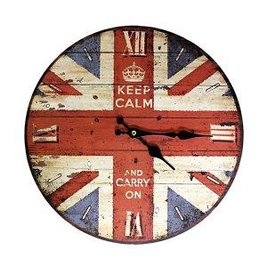 Clock - Keep Calm & Carry On - artnomore.co.uk
