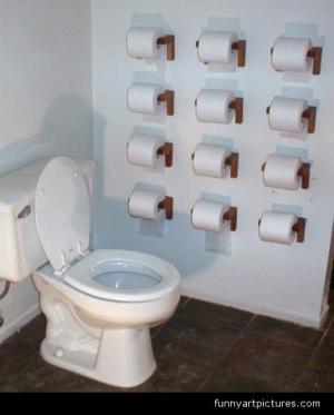 紙きれの心配がないトイレ