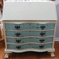 Vintage Claw Foot Drop Front Secretary Desk