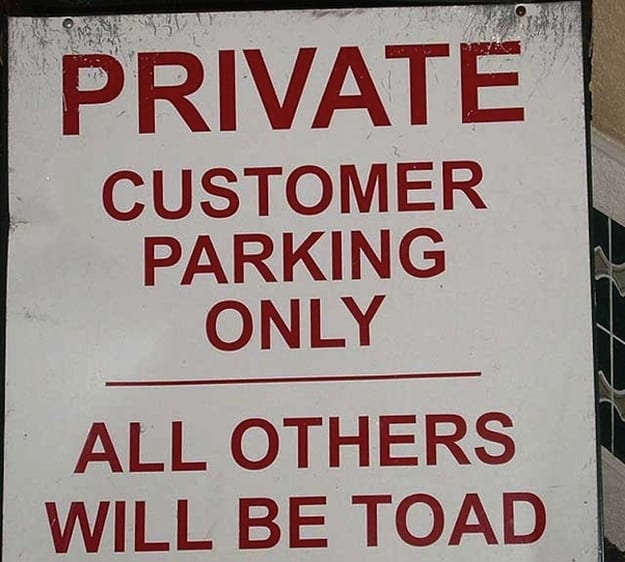 English Grammar Errors on Signs 2