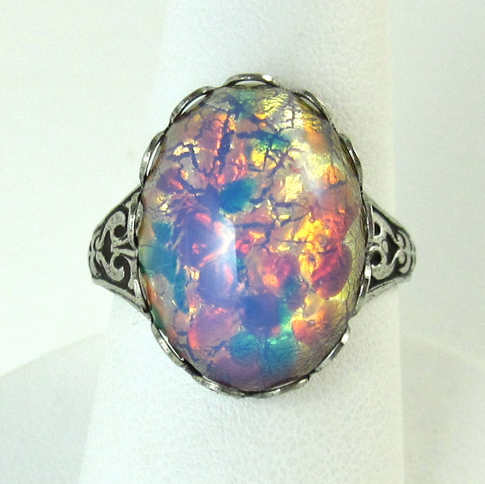 Fullsize Of Opal Wedding Rings