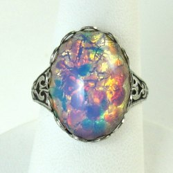 Double Opal Ring Opal Ring Wedding Rings Opal Wedding Ring Meaning Opal Wedding Ring G