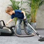 kid vacuuming