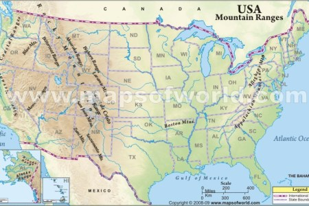 Map Of Mountain Ranges In The United States - Mountain ranges of united states