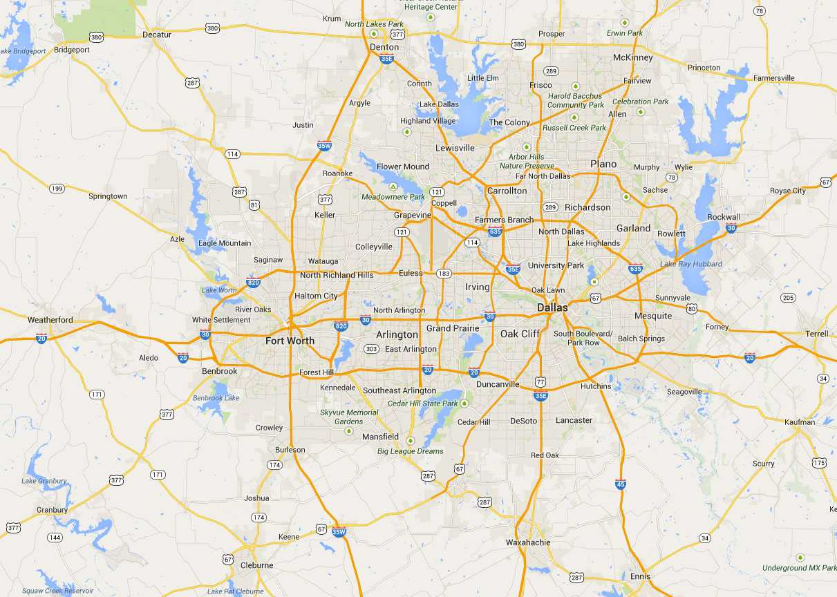 map to dfw