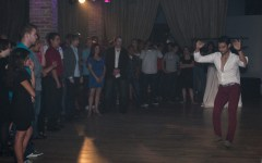 Alfonso Nunez, instructor at Salsa Chocolate, teaches club goers some new moves.