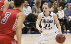 Haley Steed prepares to make a move against Gonzaga on Saturday. (Photo by Whitnie Soelberg)