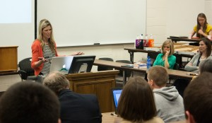 Stephanie Larsen of Backyard broadcast raised awareness of domestic sec trafficking of minors at a law school event.