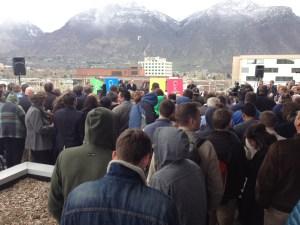Mayor Curtis announces Google Fiber coming to Provo. (Photo by Scott Hansen)