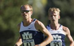 Men's cross country star Jared Ward led the Cougar track team to a victory during the weekend.